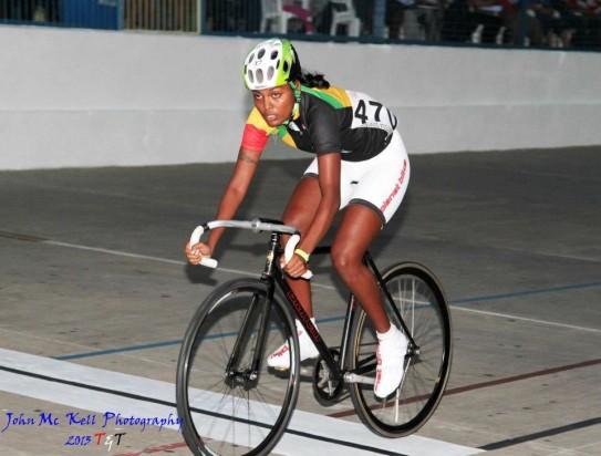 Female cyclist, Naomi Singh