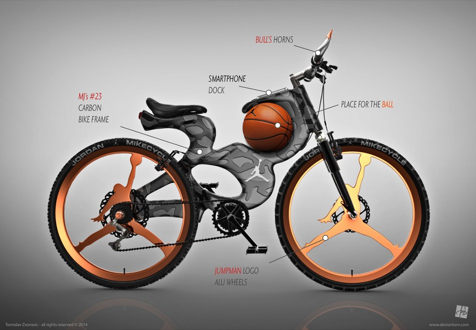 "Michael Jordan Inspired Bike ""Mikecycle"" – Black & Latino Bicycling"