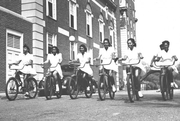 Howard University Students bicycle riding1949
