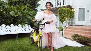 rihanna bicycling