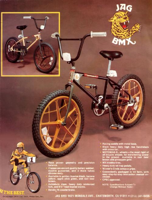 standard jag bmx bike