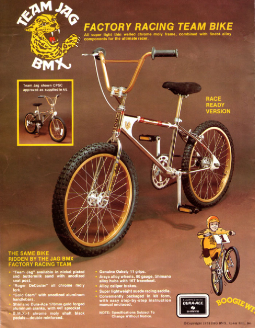 team jag bmx bike