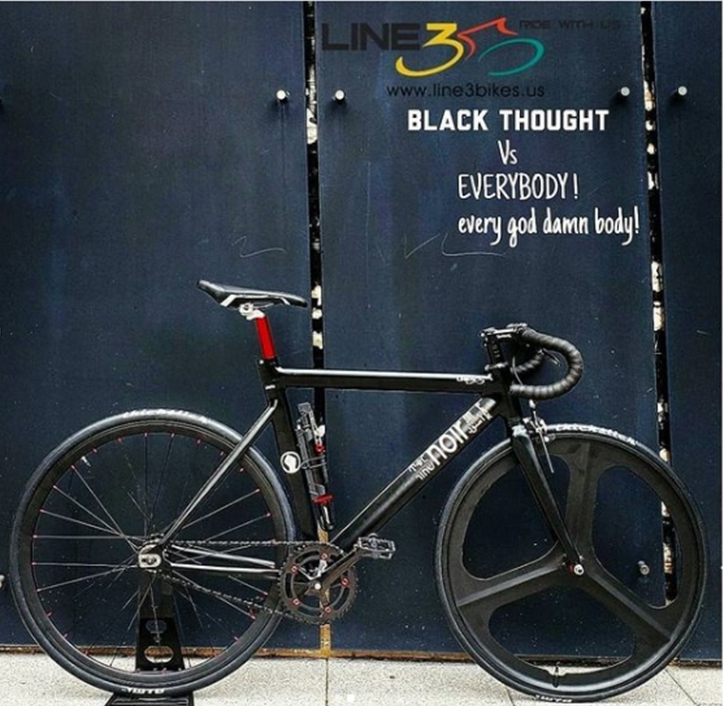 line 3 bikes, black thought roots