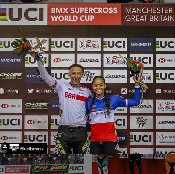 Kye white, manon valentino UCI BMX win 2019