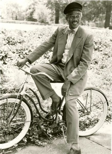 Morgan Freeman Biking